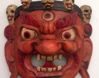 Antique Hindu God Bahirav Mask