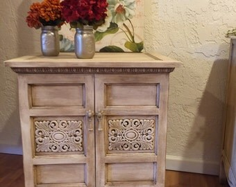 "Sold**Sold**Sold**Hand -painted nightstand/accent cabinet ""FREE SHIPPING"""