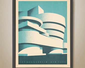 The Guggenheim Museum, New York, Frank lloyd Wright, Post Modern Styled Poster
