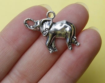 Elephant Charms, Animal Charms, Silver Elephant Charms, Zoo Charms 29*20mm
