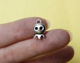Ghost Charms Silver Ghost Charms pendant 14*10mm skull charm pendant