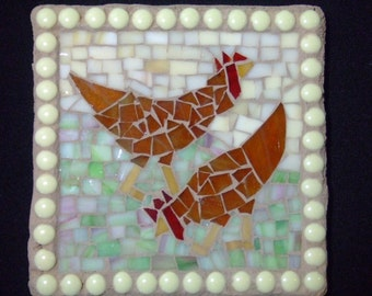 Mosaic Chicken Tile