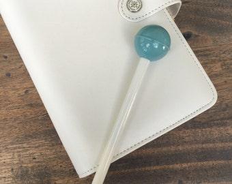 Cute Lollipop Gel Pen Candy Color Black Ink BLUE (A01)