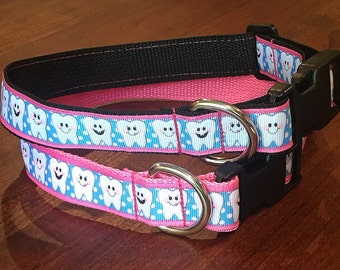 Pink and Blue Dental Collar