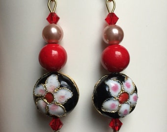 My Cherry Blossom Valentine Earrings Asian Chinese New Year Valentine's Day
