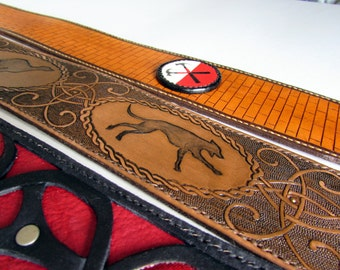 Leather Guitar Strap, Personalized & Durable