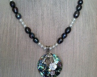 Abalone Freshwater Pearl Necklace
