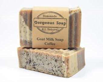 Coffee Goat Milk Soap - All Natural Soap, Handmade Soap, Homemade Soap, Handcrafted Soap