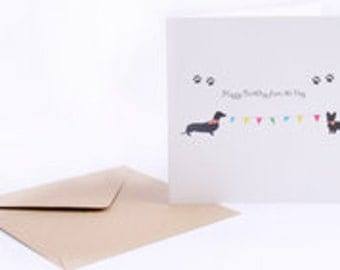Happy Birthday from the Dog - Greeting Card