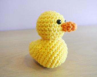 Crochet Duckling Amigurumi - Handmade Crochet Amigurumi Toy Doll - Rubber Duck - Duckling Crochet - Amigurumi Duckling
