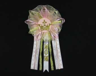 Princess Mommy To Be Corsage, Baby Shower, Princess, Queen, Crown,  Baby Girl