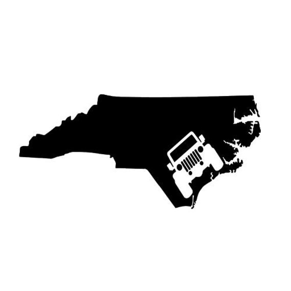 Jeep North Carolina Vinyl Decal Sticker