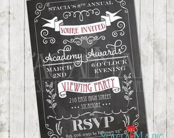 Academy Awards Oscar Party Invitation