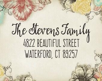 Return Address Stamp - Custom Address Stamp - Calligraphy Address Stamp - Self-inking Rubber Stamp - Wedding Stationery Stamper 22