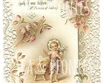 7 Postcards- DIGITAL DOWNLOAD- 1900's Vintage/Antique Christmas/Winter/New Year/Holiday/Santa/German/Jesus