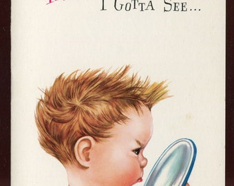 Whipper Snappers Get Well Vintage Greeing Card Unused with Envelope This I Gotta See...