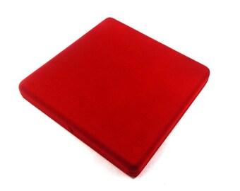 Red velvet gift box etsy for Red velvet jewelry gift boxes