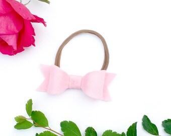 baby bow headband - pink - bow headband