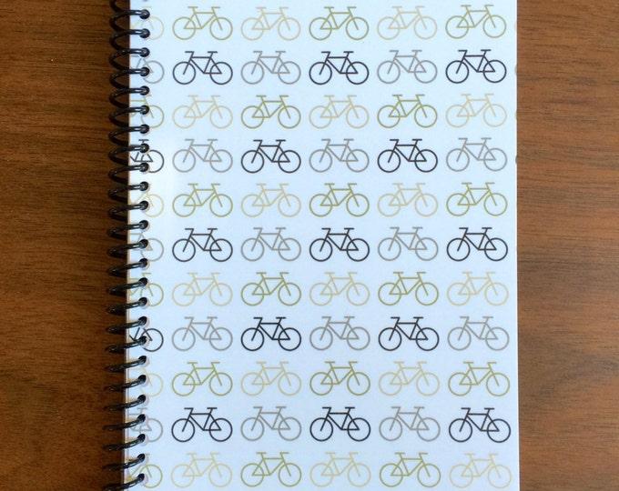 Bicycle Notebook 5 x 8 Spiral Bound Pattern Design Gift Patterns Notebook Blank Paper Notebook Stenopad cycle bike beach cruiser LOGO FREE