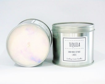 Tequila Candle, Tequila Scented Candle, Scented Candle, Tin Candle, Cocktail Candle, Alcohol Gift, Large Candle, Strong Candle, Cocktails