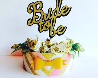 Bride to be cake topper black gold glitter cake topper she said yes, engagement party, wedding, engagement cup cakes, gold party london spar