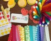 Custom Washi Pack - 50+ count, Lemony Stitch Fabric Washi