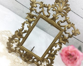 French Vintage Rocco Style, Baroque Gold Table Top Picture Frame, French Style, Hollywood Regency #978