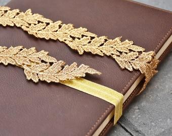 Wedding Lace Garter - Gold Garter - Gold Lace Garter - Wedding Garter - Bride Garter - Wedding Leaf Garter - Gift For Bride - Bridal Garter