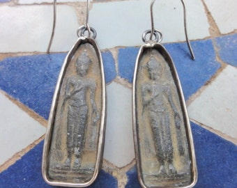 Earrings made from Buddha Figures