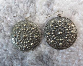 The Henley brass dangle earrings
