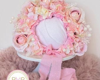 Flowers Bonnet photography pops, newborn, sitter, props