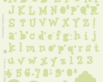 Template Stencil Lettering Guide Letters, Alphabet; Adult Coloring Books, Bible Journaling, Planer Greeting Cards, Scrapbooking; Pudgy Tag