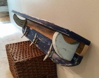 Handmade, Pallet Shelf, Shelf, Surfboard, Surfboard Shelf, Towel Rack, Coat Rack