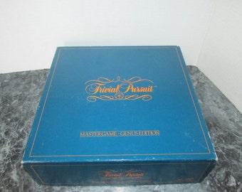 Vintage Trivial Pursuit Master Game Genus Edition 1981