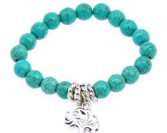 Good Luck Elephant Charm Bracelet , beads, women , wrist , birthday