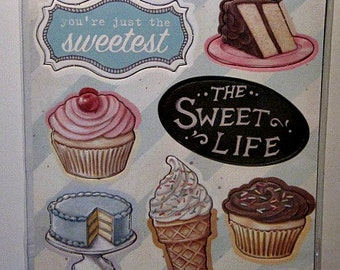 Melissa Frances The Sweet Life Chipboard Accents