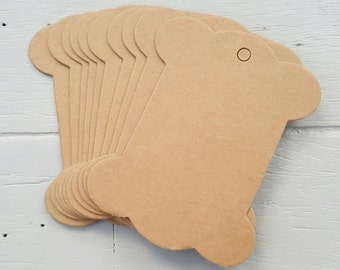 10 Brown Kraft Bobbin Cards