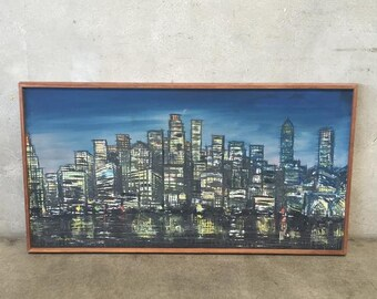 Mid Century Cityscape Painting (GR8CHP)