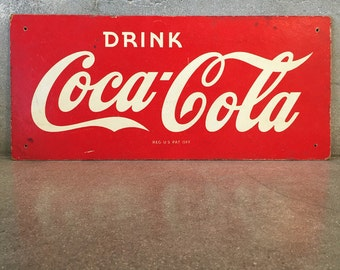 WWII Coca Cola Masonite Sign (FKHHCP)