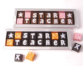 Star Teacher Box of Chocolates--Thank You Gift for Teachers - Best Teacher - Chocolates for Teachers - Chocolate Gift for Teachers