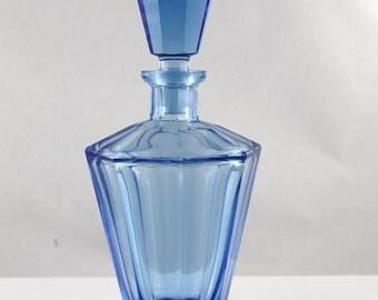 Art deco bleu carafe/decanter