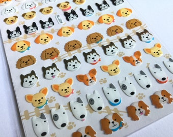 Sticker set dog puppy! (A1074)