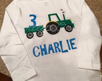 Birthday tractor shirt