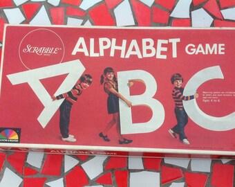 Scrabble Alphabet Game 1972