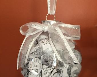 Hand-folded Lucky Star Christmas Ornament