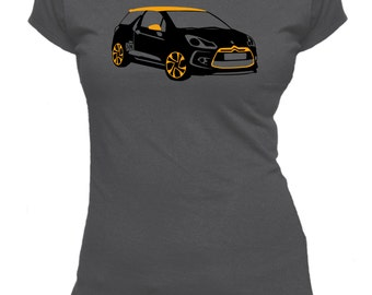 Citroen DS3. Car. Ladies fitted t-shirt.