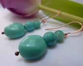 Turquoise Beaded Earrings, Blue Earrings, Gift for Her, Present for Her, April Finds, Spring Gift Guide, Gift Idea, Jewelry, Lovely