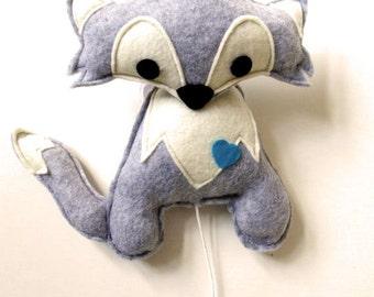 music box fox (grey)