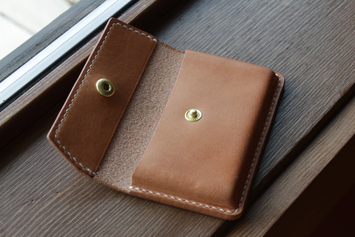 Leather Business Card Holder// Wallet // Full Grain Leather