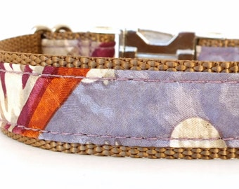 Grey and Purple Dog Collar, Sophisticated Dog Collar, Dog Collar for Boys - Limited Edition